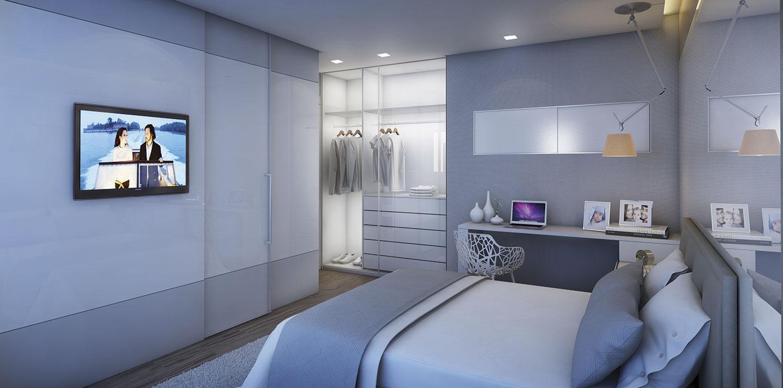 3 quartos - Suíte com closet