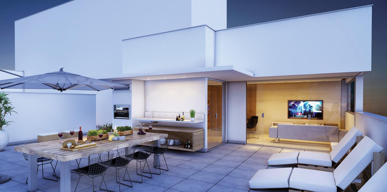 Cobertura 4 quartos - Terraço
