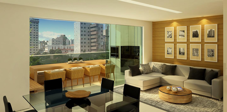 Apartamento Torre 1 - Sala com varanda