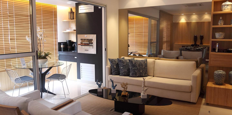 Foto do dec. de 3 quartos - Sala c/ varanda gourmet