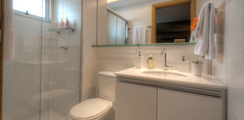 Banheiro do ap. decorado - 3 Qts.