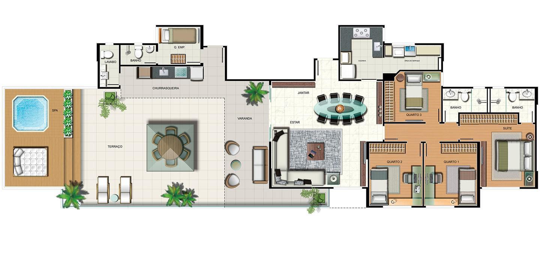 Apartamento 4 quartos - cobertura