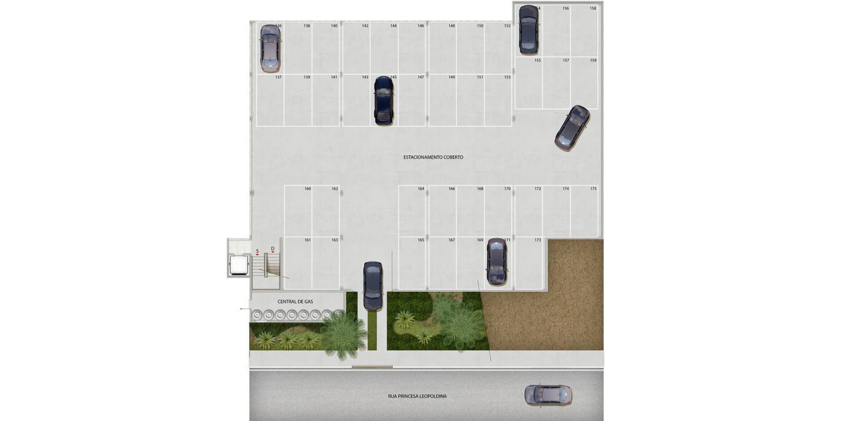 3º pavimento - edifício garagem