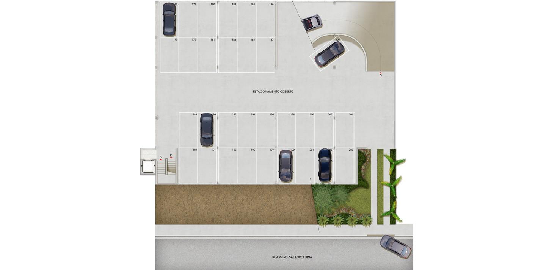 4º pavimento - edifício garagem