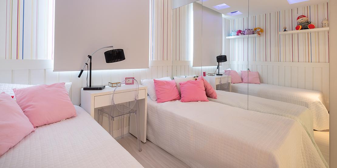 Quarto do apartamento decorado Villaggio Florença