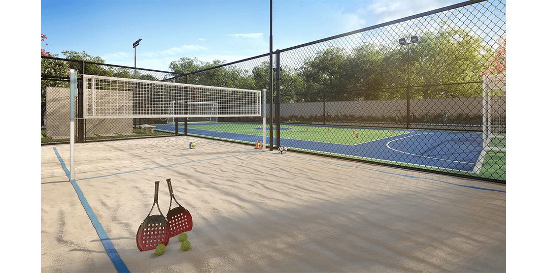 Quadra de Beach Tennis